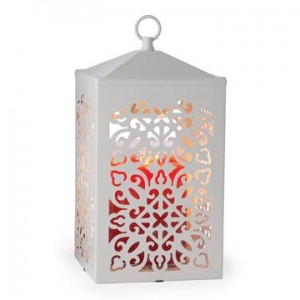 Candle Warmers Lampa do świec SCROLL WHITE